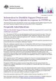 Cover of COVID-19 Impact on DSP and CP and JobKeeper Recipients - Fact Sheet