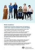 Cover of Disability Royal Commission support services - Media guidelines