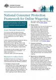 National Consumer Protection Framework for Online Wagering cover image