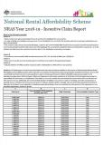 Cover of NRAS Year 2018-19 - Incentive Claim Report