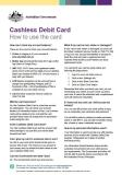 Cashless Debit Card - How to use the card cover image