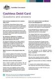 Cashless Debit Card - Questions and Answers cover image