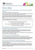 Dowry Abuse factsheet cover image