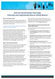 Fact sheet: How the Second Action Plan helps Culturally and Linguistically Diverse Women