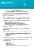 Fact Sheet on the DSM-5 and eligibility to HCWA and Better Start Page One