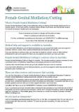 Female Genital Mutilation/Cutting factsheet cover image