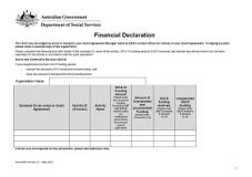 Multiple Activity Financial Declaration Form Cover Image