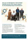 Disability Royal Commission Support Services fact sheet - Indigenous cover image