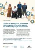 Disability Royal Commission Support Services posters - Indigenous cover