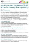 Journeys Home: Longitudinal Study of Factors Affecting Housing Stability cover image