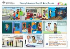 (Oromo) translated Family Safety Pack documents cover image