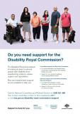 Disability Royal Commission support services poster