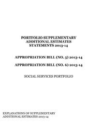 Portfolio Supplementary Additional Estimates Statements 2013-14