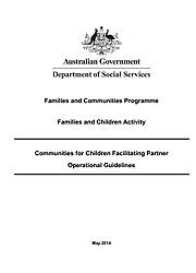 Communities for Children Facilitating Partner - Operational Guidelines Page One