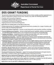 DSS Grant Funding cover image