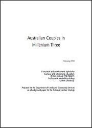 Australian Couples in Millennium Three: A research and development agenda for marriage and relationships education