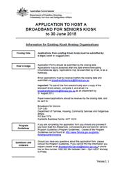 document cover image for Broadband for Seniors - Frequently Asked Questions