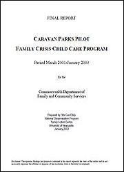 Caravan Parks Pilot: Family Crisis Child Care Program