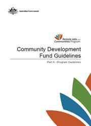 Community Development Fund Guidelines - Part A Final Cover Image