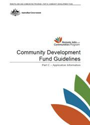Community Development Fund Guidelines - Part C Cover Image