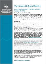 Fact sheet Seventeen: Changes to Family Tax Benefit (FTB) cover image