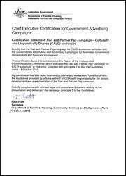 Chief Executive Certification