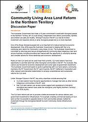 Community Living Area Land Reform in the Northern Territory - Discussion Paper