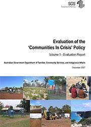 Evaluation of the & Communities In Crisis & Policy cover image