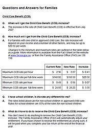 CCB: Questions and Answers for Families Cover Image