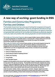 Families and Communities Programme Families and Children Page One