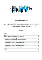 Progress Review of the First Action Plan
