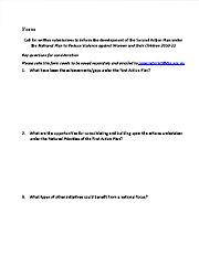 Written submissions forms Page One