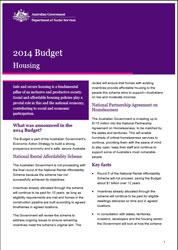 Budget Fact Sheet - Housing