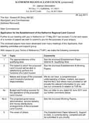 Application for the establishment of the KRLC – Further Information
