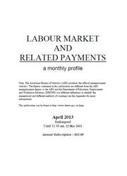 Labour Market and Related Payments April 2013 cover image