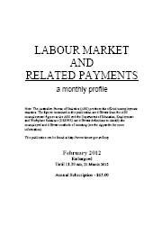 Labour Market and Related Payments February 2012 cover image