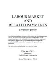Labour Market and Related Payments February 2013 cover image