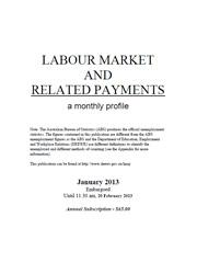 Labour Market and Related Payments January 2013 cover image