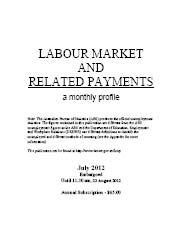 Labour Market and Related Payments July 2012 cover image