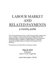 Labour Market and Related Payments March 2013 cover image