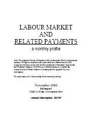 Labour Market and Related Payments November 2012 cover image