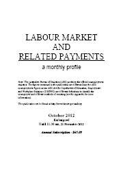 Labour Market and Related Payments October 2012 cover image