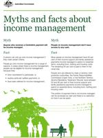 Myths and facts about income management cover image
