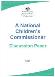 Consultations about the potential role of a National Children's Commissioner
