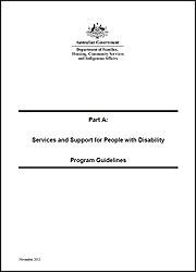 Part A: Program Guidelines - National Disability Conference Initiative 2013-14