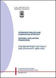 National Evaluation Framework of the SFCS 2004-2008