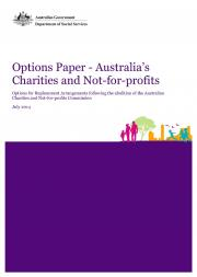 Options Paper, Australia's Charities and Not-for-profits