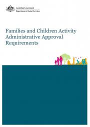 Families and Children Activity Administrative Approval Requirements Page One