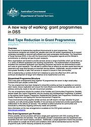 Red Tape Reduction in Grant Programmes Page One