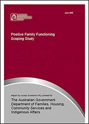 Positive Family Functioning – Scoping Study